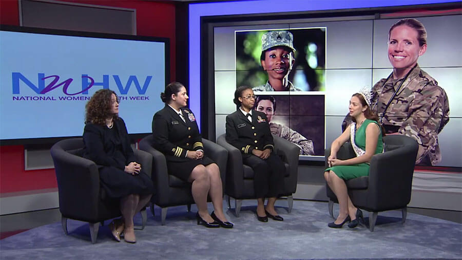 Molly Mae Potter leads a discussion with women veterans