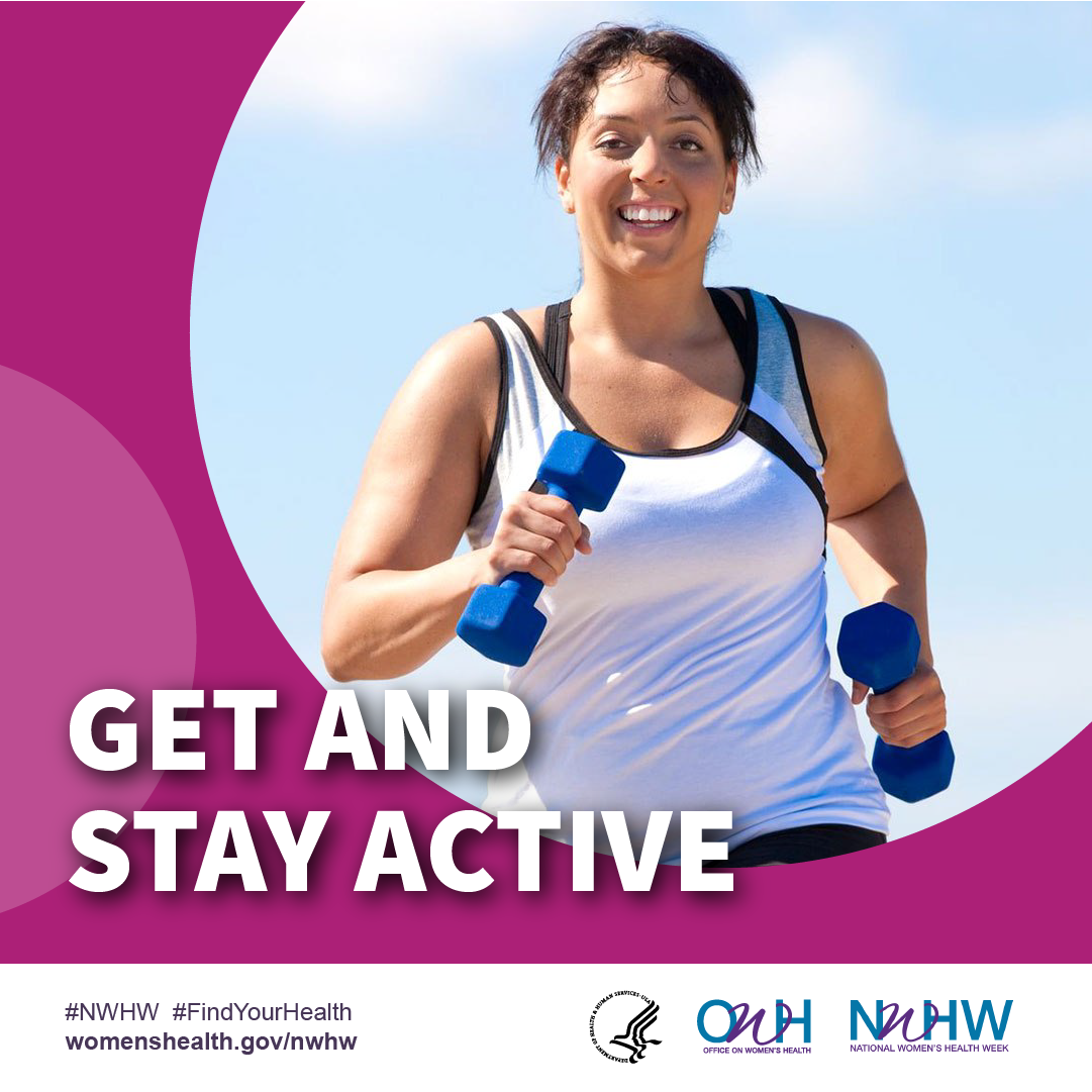 Stay active. #NWHW #FindYourHealth