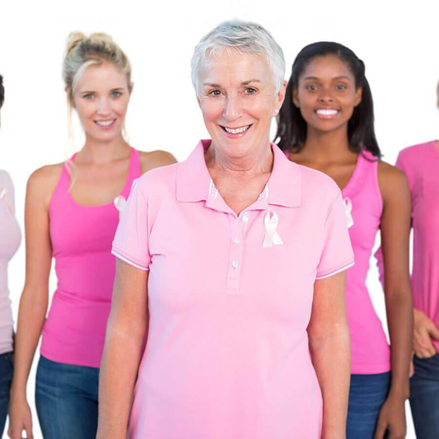Women wearing pink shirts