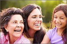 Photo representing three generations of Hispanic women.